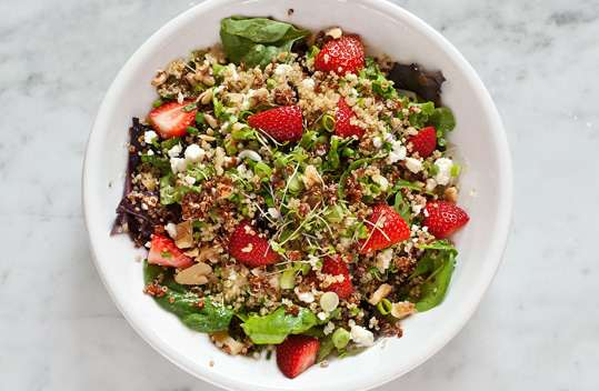 recipe for strawberry, quinoa, and feta salad