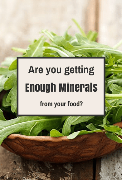 proper mineral balance in your diet